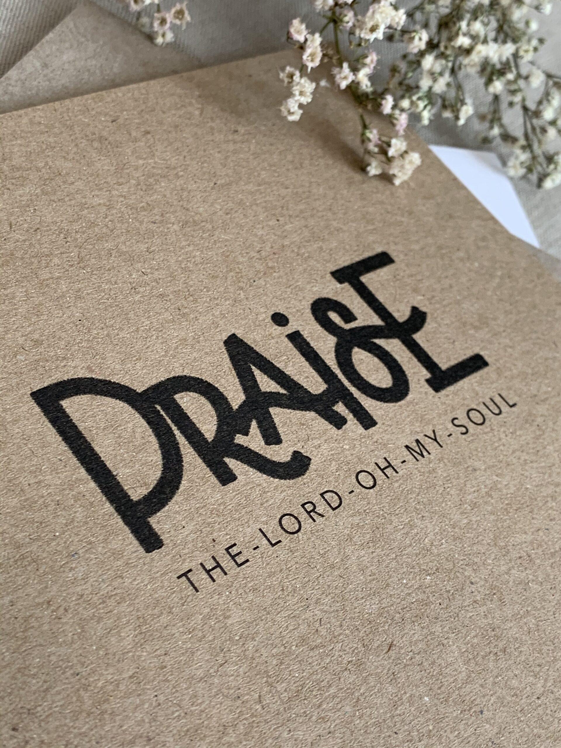 "Karte quadratisch ""praise the lord"""